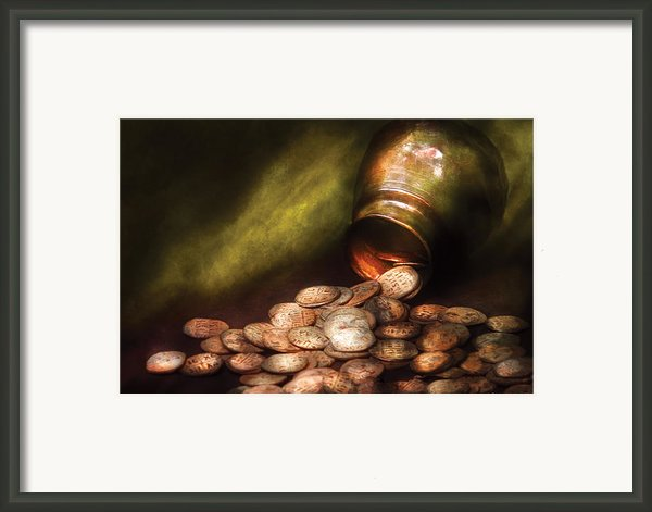 Collector - Coin - Treasure Quest  Framed Print By Mike Savad