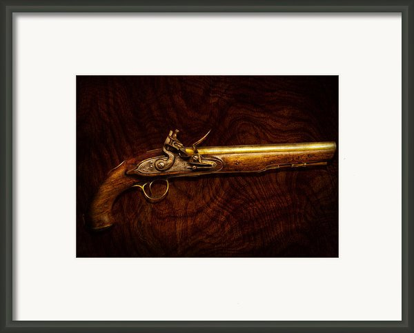 Collector - Gun - Flintlock Pistol  Framed Print By Mike Savad