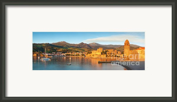 Collioure At Dawn Framed Print By Brian Jannsen