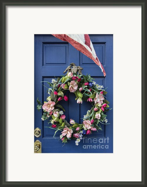 Colonial Door Framed Print By John Greim