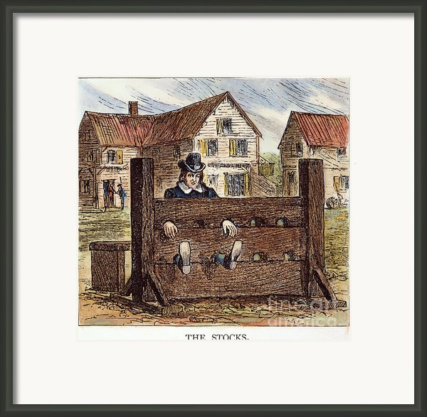 Colonial Stocks Framed Print By Granger