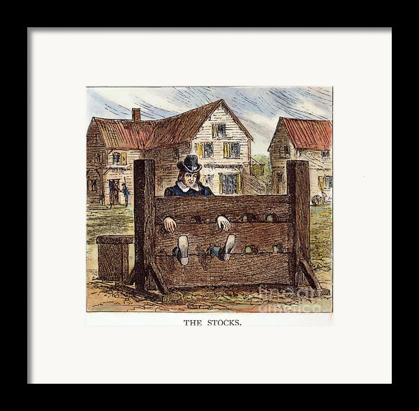 Colonial Stocks Framed Print By Granger