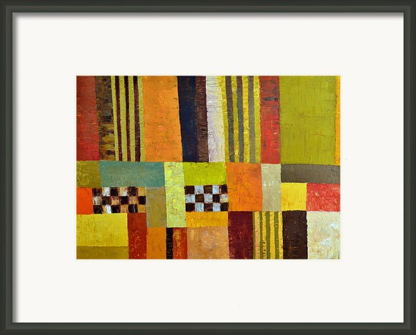 Color And Pattern Abstract Framed Print By Michelle Calkins