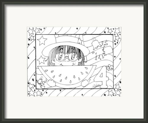 Color Me Card - 4th Of July Framed Print By Sher Sester