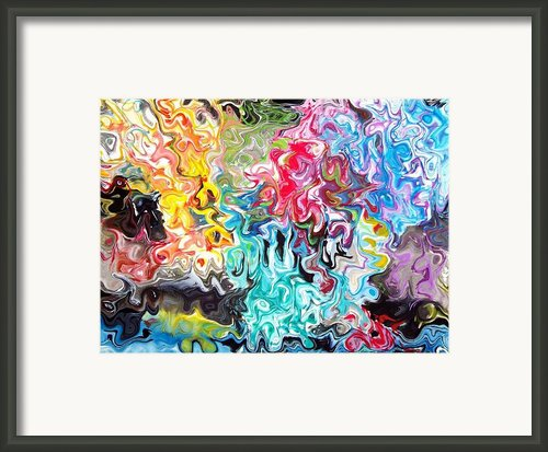 Color Splash Framed Print By Katina Cote
