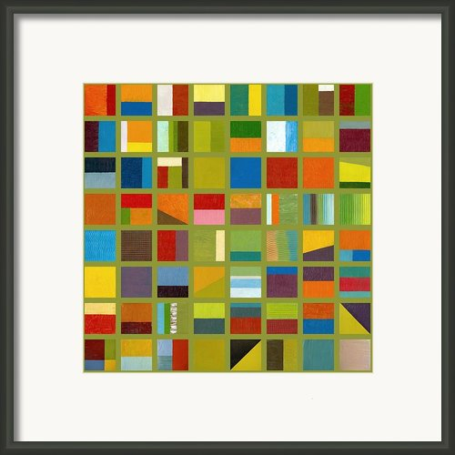 Color Study Collage 64 Framed Print By Michelle Calkins