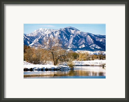 Colorado Flatirons 2 Framed Print By Marilyn Hunt