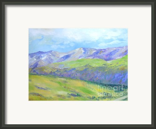 Colorado Mountains Framed Print By Barbara Anna Knauf