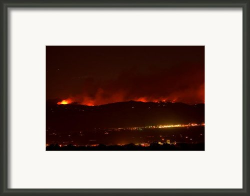 Colorado Wildfire Fourmile Canyon Aka Labor Day Fire Framed Print By James Bo Insogna