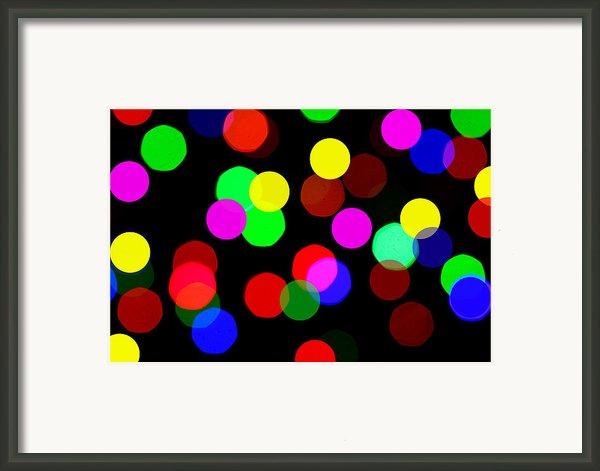 Colorful Bokeh Framed Print By Paul Ge