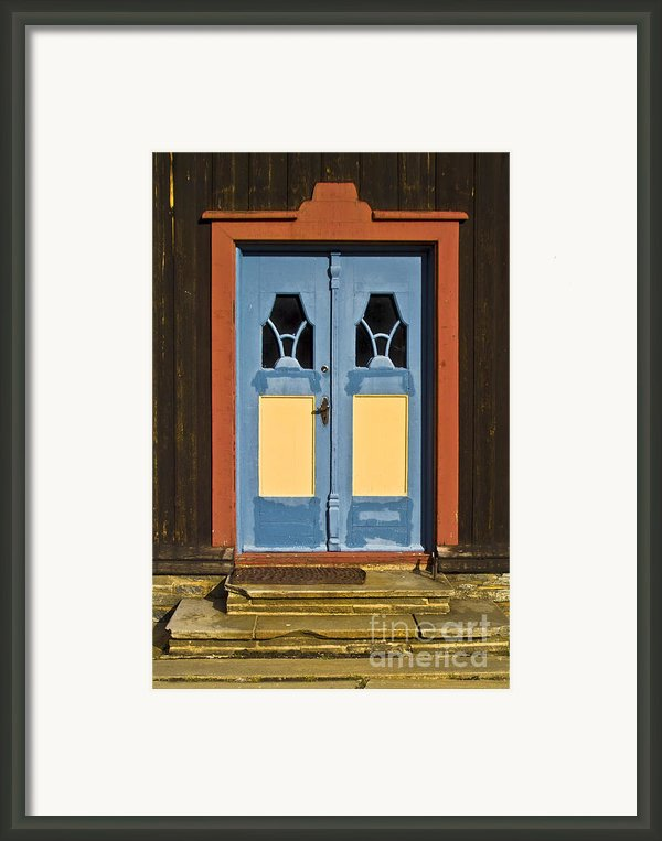 Colorful Entrance Framed Print By Heiko Koehrer-wagner