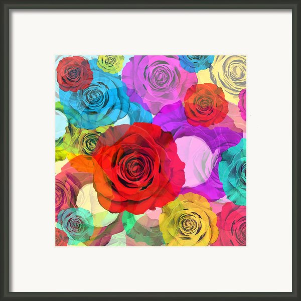 Colorful Floral Design  Framed Print By Setsiri Silapasuwanchai