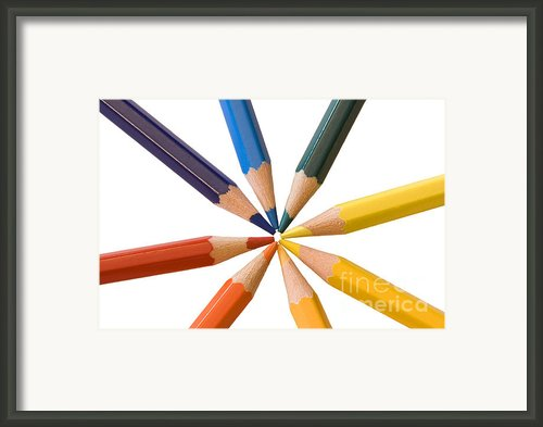 Colorful Pencils Framed Print By Soultana Koleska