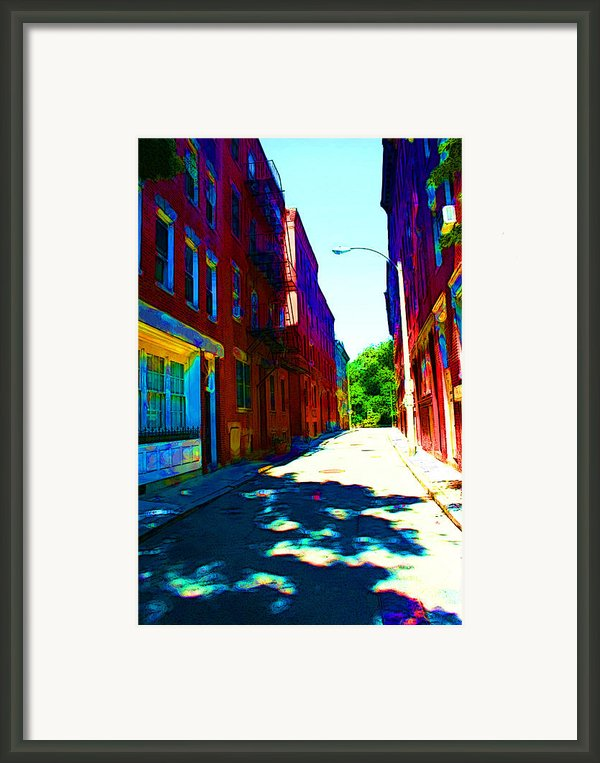 Colorful Place To Live Framed Print By Julie Lueders