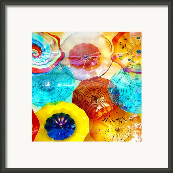 Colorful Plates Framed Print By Author And Photographer Laura Wrede