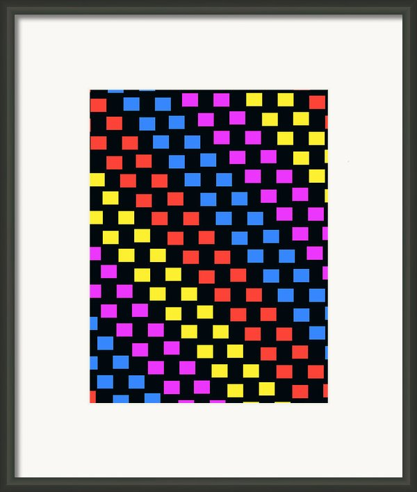 Colorful Squares Framed Print By Louisa Knight