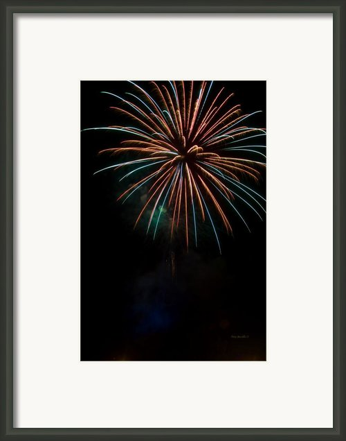 Colors Light The Sky Framed Print By Tony  Bazidlo