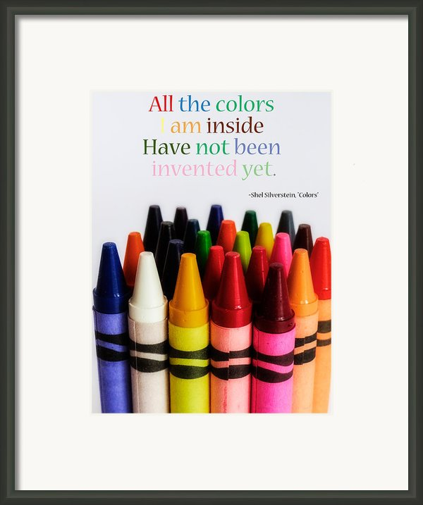 Colors Of Me Framed Print By Julia Wilcox