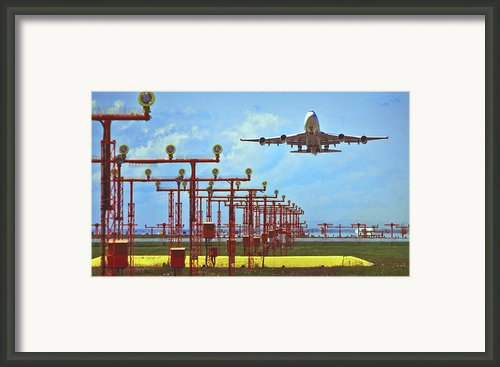 Colourful Take-off Framed Print By Patrick English