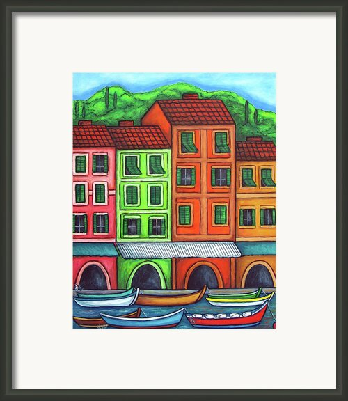 Colours Of Liguria Framed Print By Lisa  Lorenz
