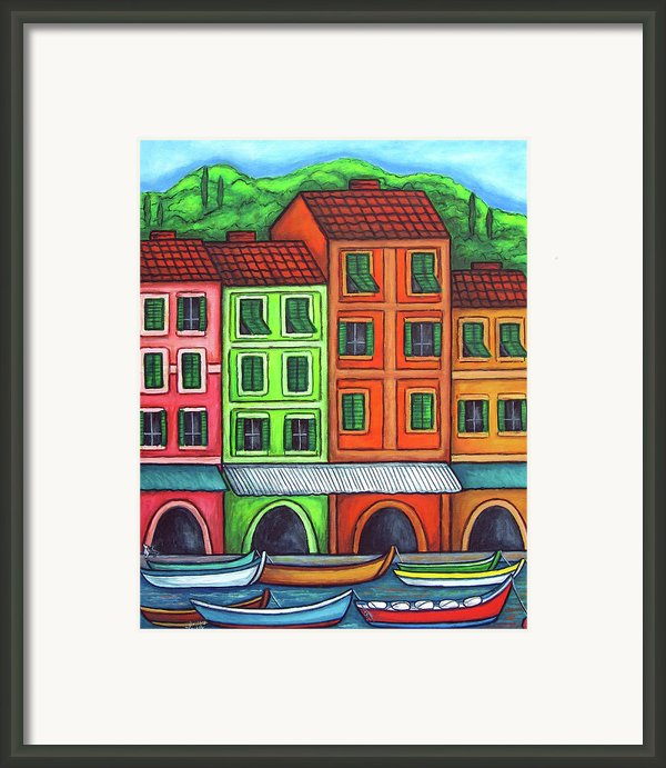 Colours Of Liguria Framed Print By Lisa  Lorenz