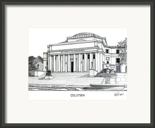Columbia Framed Print By Frederic Kohli
