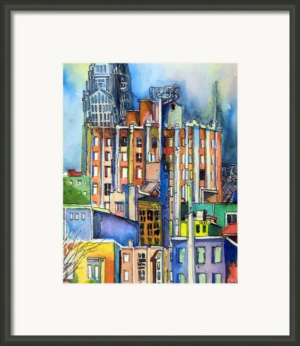 Columbus Ohio City Lights Framed Print By Mindy Newman
