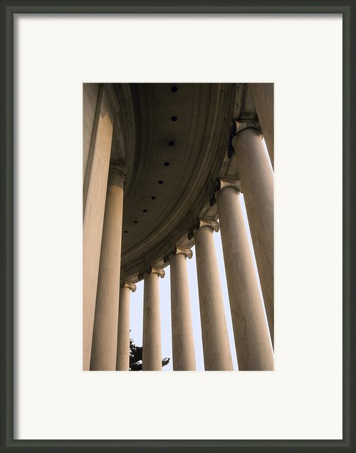 Columns Surround The Jefferson Statue Framed Print By Rex A. Stucky