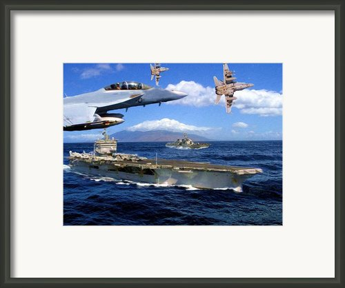 Combat Air Patrol Framed Print By Garry Staranchuk