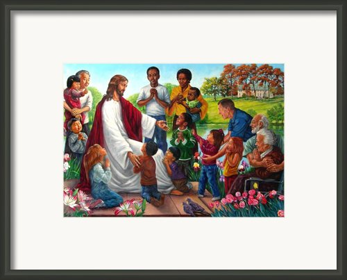 Come Unto Me Framed Print By John Lautermilch