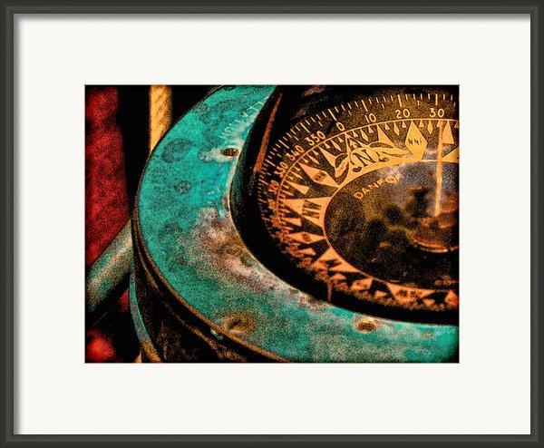 Compass In Watercolor Framed Print By Tony Grider