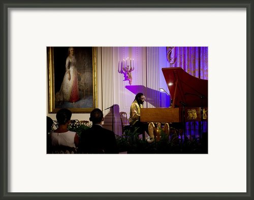 Concert Pianist Awadagin Pratt Performs Framed Print By Everett