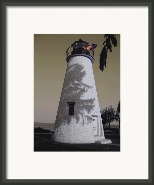 Concord Point Light Framed Print By Gordon Beck