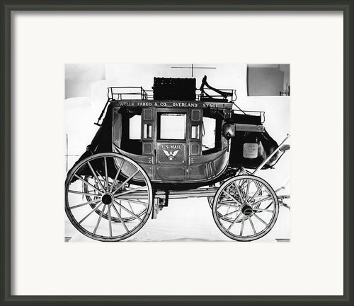 Concord Stagecoach Framed Print By Photo Researchers, Inc.