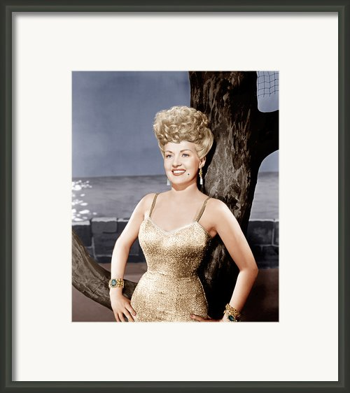 Coney Island, Betty Grable, 1943 Framed Print By Everett
