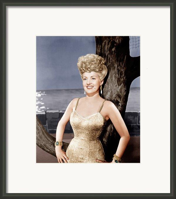 Coney Island, Betty Grable, 1943 Framed Print By Everett