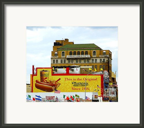Coney Island Memories 9 Framed Print By Madeline Ellis