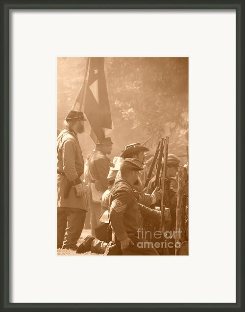 Confederate Breastworks Carnifex Ferry Framed Print By Thomas R Fletcher