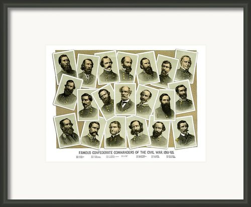 Confederate Commanders Of The Civil War Framed Print By War Is Hell Store