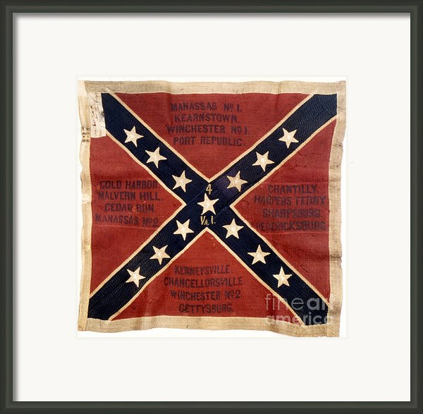 Confederate Flag, 1863 Framed Print By Granger