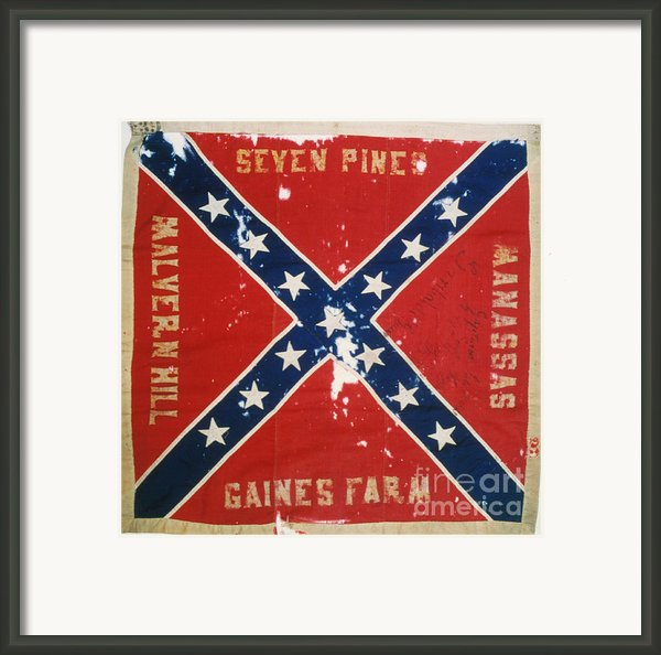 Confederate Flag Framed Print By Granger