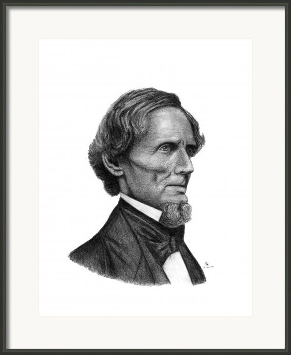 Confederate President Jefferson Davis Framed Print By Charles Vogan