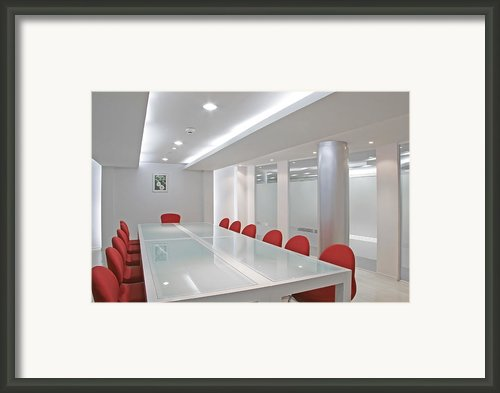Conference Room Framed Print By Setsiri Silapasuwanchai