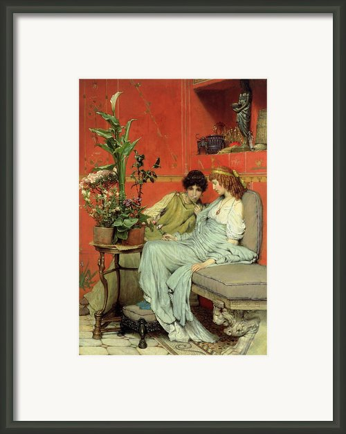 Confidences Framed Print By Sir Lawrence Alma-tadema