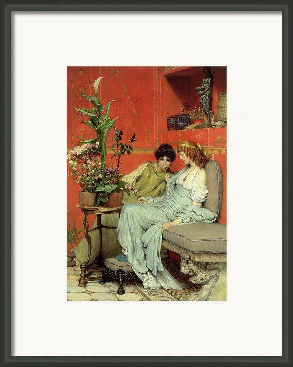Confidences Framed Print By Sir Lawrence Alma-tadema