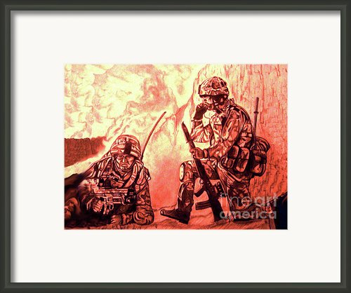 Confrontation Framed Print By Johnee Fullerton
