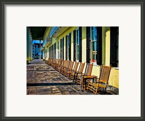 Congress Hall Rockers Framed Print By Colleen Kammerer
