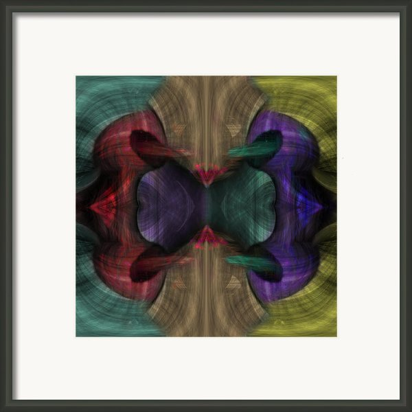 Conjoint - Multicolor Framed Print By Christopher Gaston