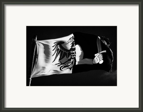 Connacht Provincial Flag Flying In Republic Of Ireland Framed Print By Joe Fox