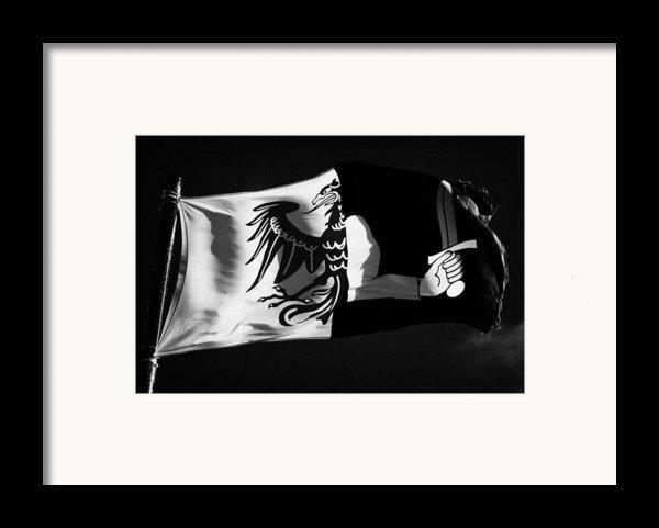 Connacht Provincial Flag Flying In Republic Of Ireland Framed Print By Joe Fox